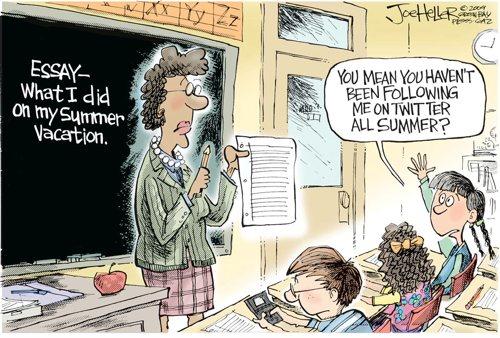 Summer Essays Now on Twitter
