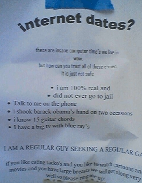 Who wants an internet date with an e-man?