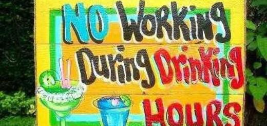 No working during drinking hours.