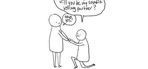 Zombie Wedding Proposal