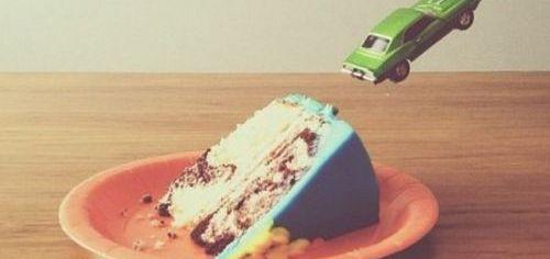 Car Jump Cake