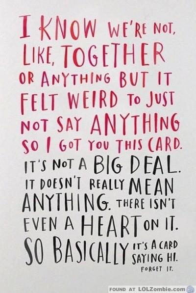 No Big Deal Card
