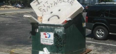 Mattress in Dumpster