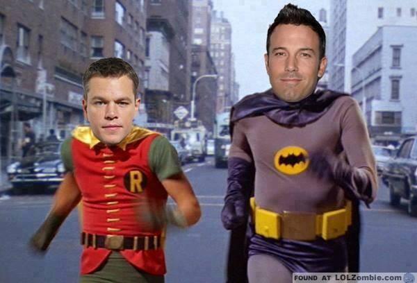 Matt Damon Robin and Ben Affleck Batman