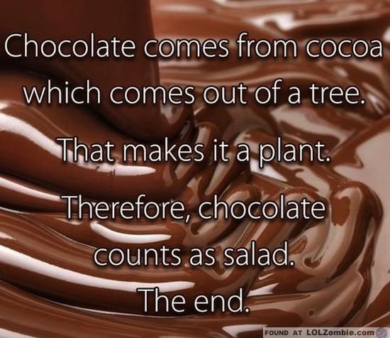 chocolate salad
