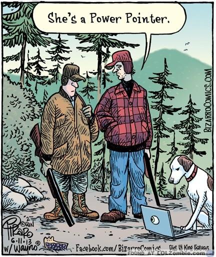 Power Pointer Dog