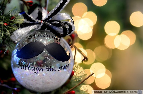 mustache christmas ornament