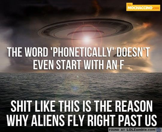 Aliens Won't Invade Us