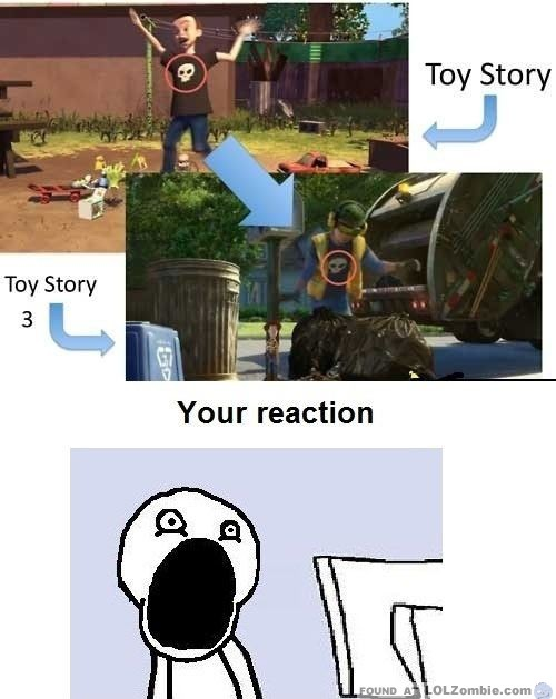 Sid in Toy Story - Then and Now