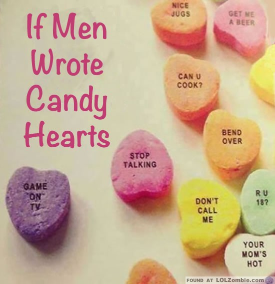 What If Men Wrote Candy Hearts