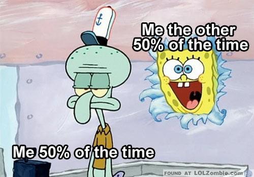 Spongebob Happy Sad