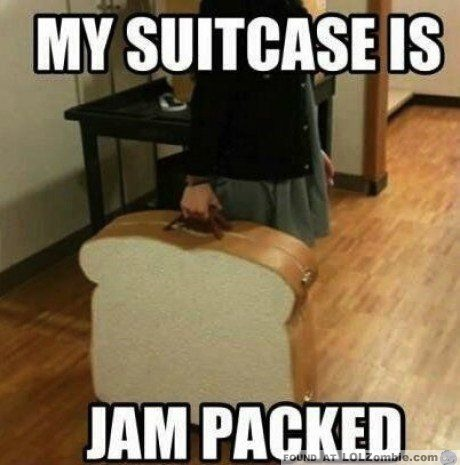 Jam Packed Suitcase