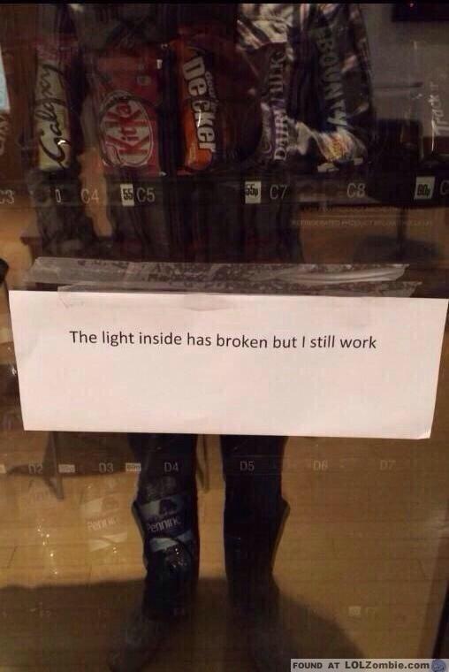 Light Broken Vending Machine