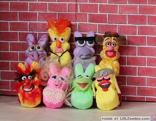 Peeps as Muppets