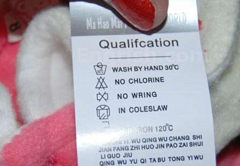 confusing washing instructions