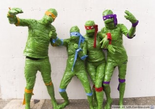 Duct-tape Teenage Mutant Ninja Turtles. Good idea, but it doesn't work.