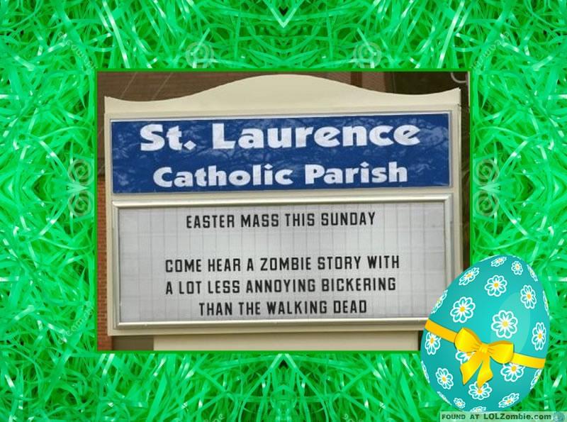 Easter Walking Dead Sign