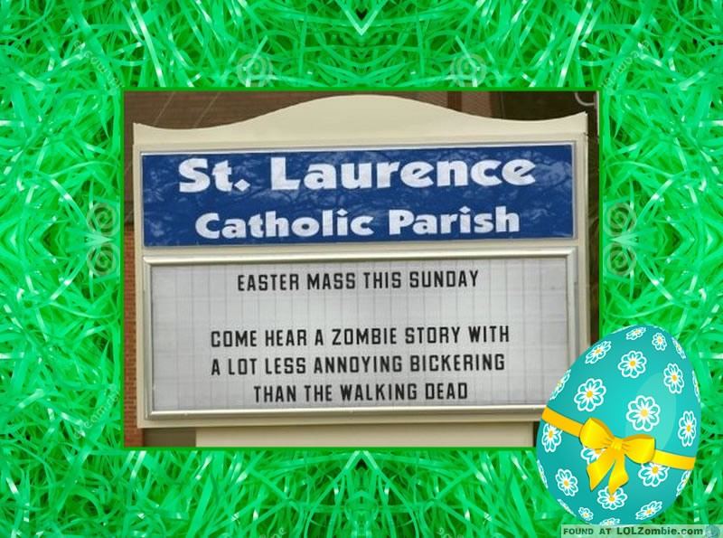 Easter Walking Dead Sign