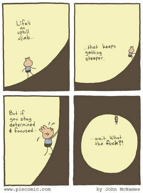 life uphill climb is a circle