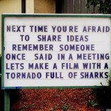 Shark Idea Sign
