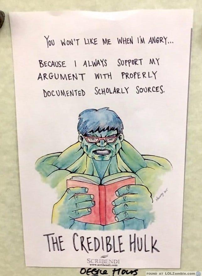 Incredible Hulk Reading Book