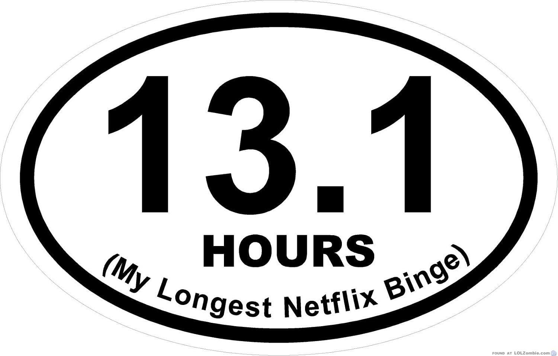 13.1 Hours - My longest Netflix binge.