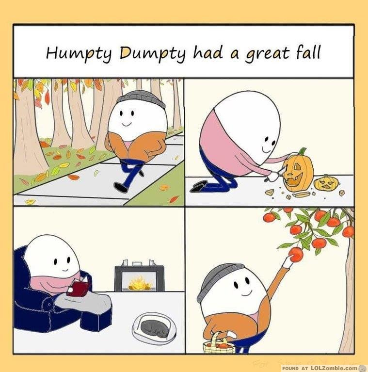 Humpty Dumpty Enjoying Fall Activities