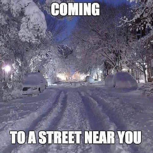 Snow covered streets