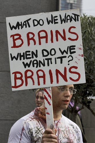 What do we want? Brains!