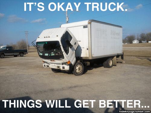 Sad Truck Needs A Hug