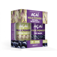 Açaí Max Power - Novity - 60 + 60 cápsulas