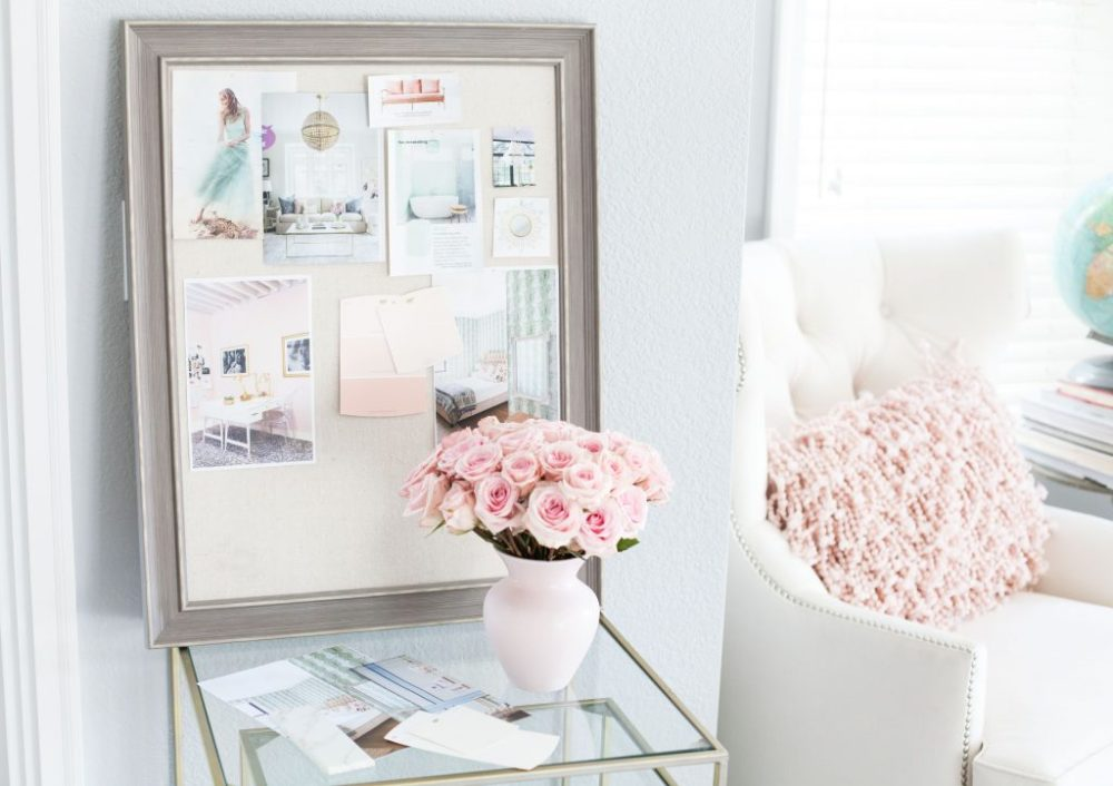 home decor inspiration mood board with home polish