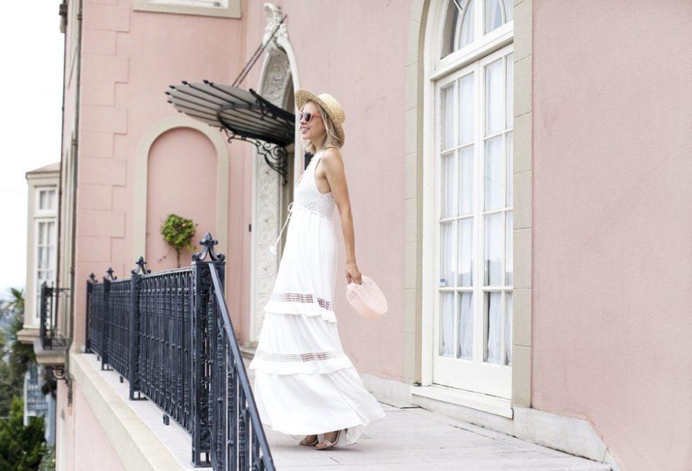 endless summer white crochet maxi dress Hale Bob