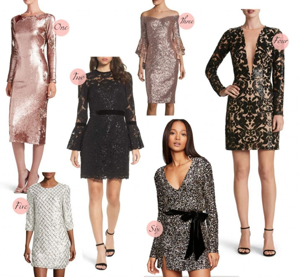 holiday dress guide sequin long sleeve dresses