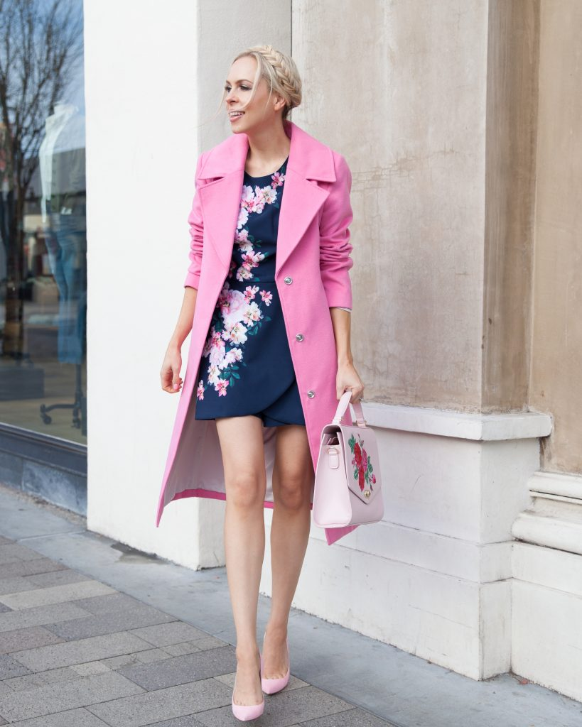 review australia romper dress floral, pastel winter style