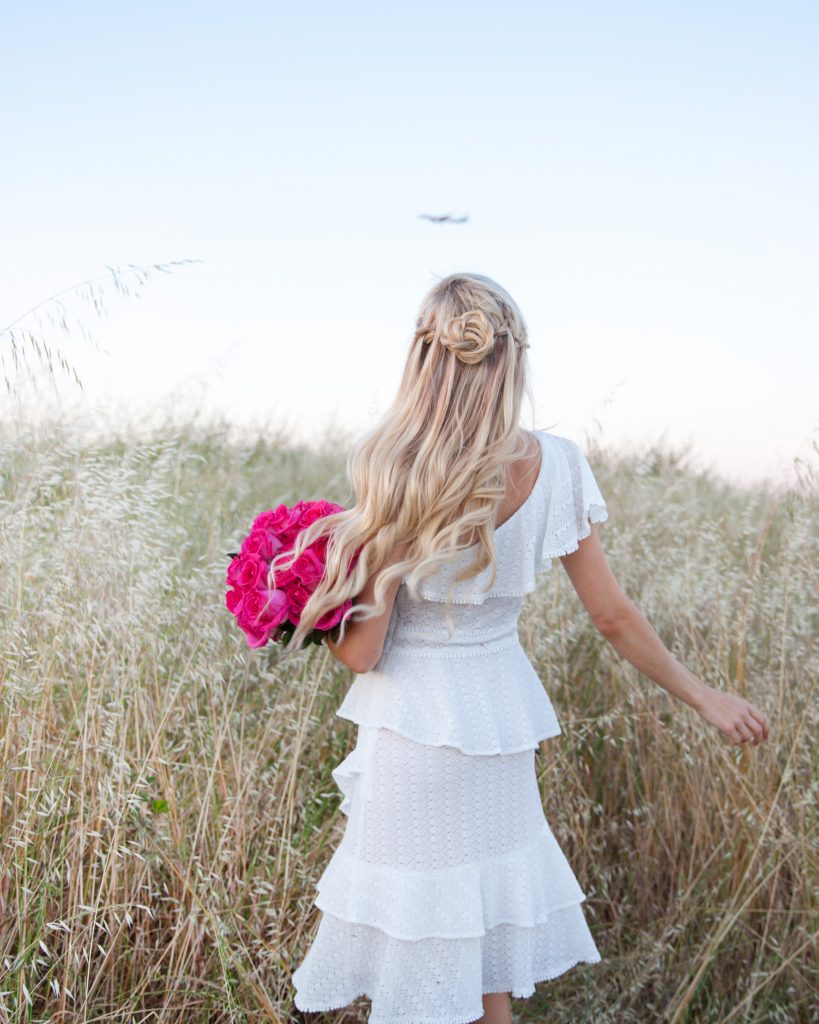 Be Glammed, adelyn rae TRIXIE Knit One-Shoulder Dress, hair blogger