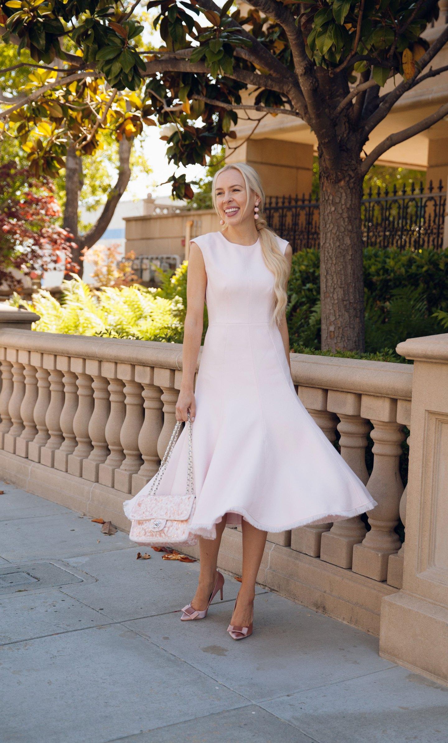 Eliza-J fit and flare dress blush