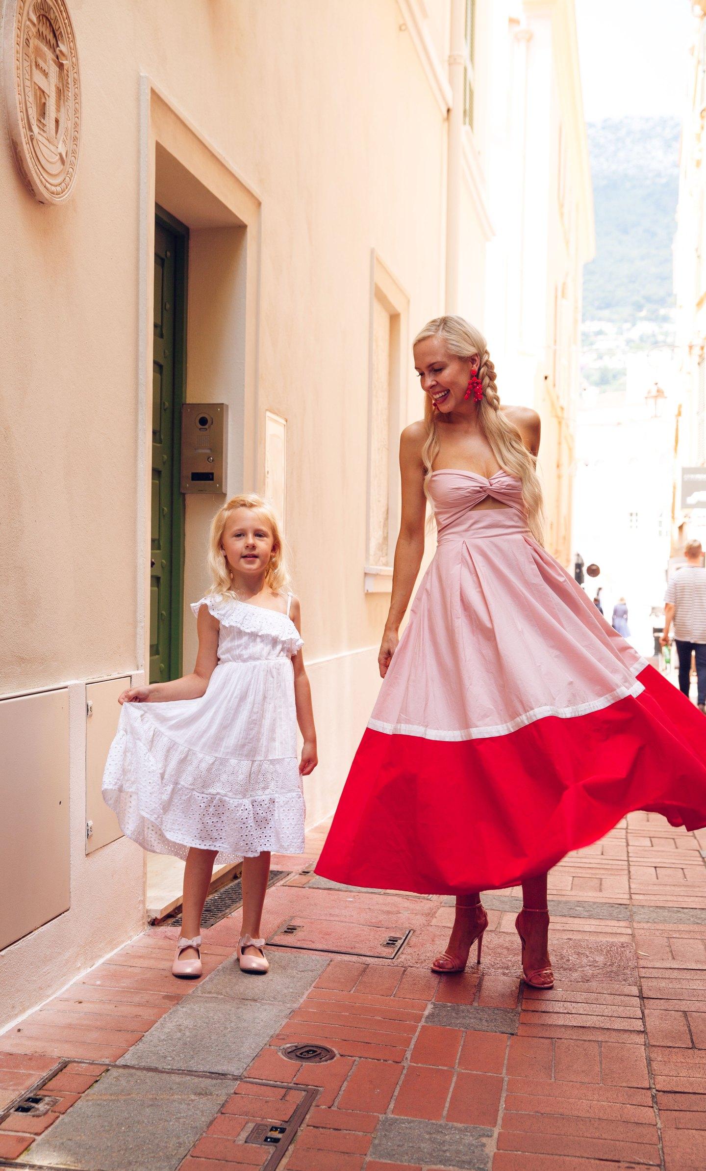 Sau Lee Poppy Cotton Color Block Dress dress in Monaco