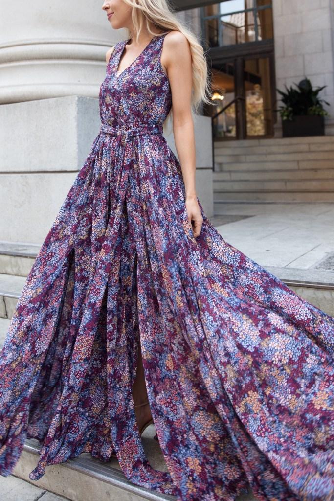 CRANBERRY FIELDS SLEEVELESS DIANA MAXI DRESS