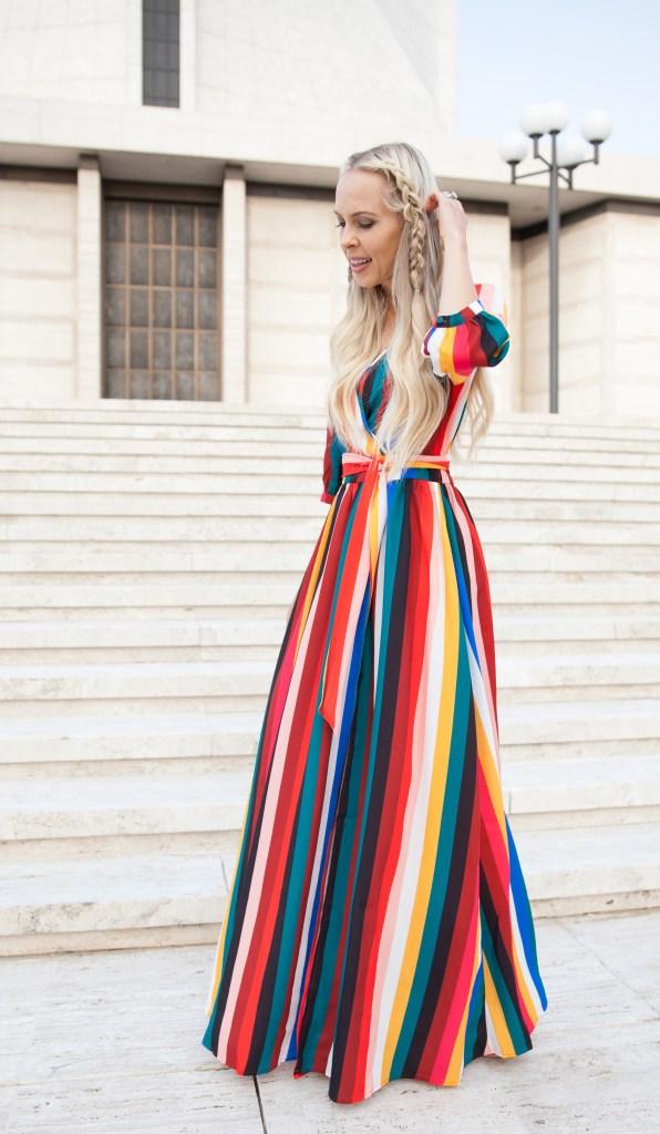 striped maxi vici doll dress