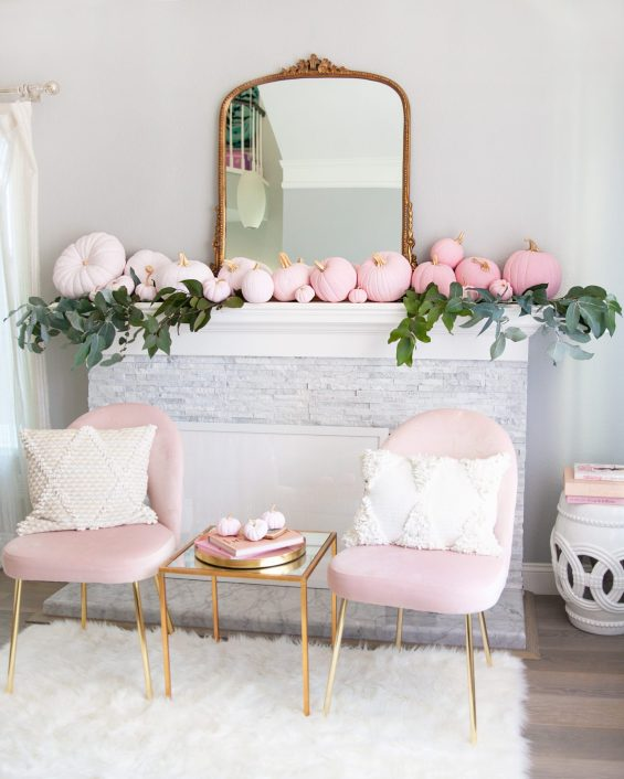 | 5 Step Super Easy Ombre Pink Pumpkin Decor Tutorial featured by top San Francisco lifestyle blog, Lombard & Fifth