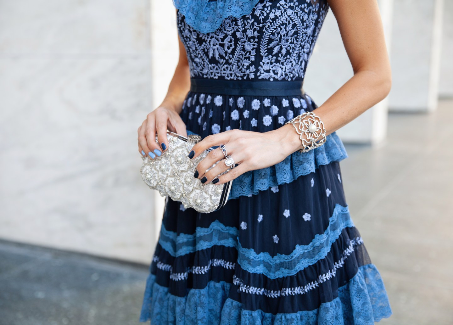 Needle & Thread embroidered dress featured by top San Francisco fashion blogger Lombard and Fifth