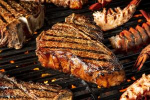 T-bone steaks with Bourbon Marinade