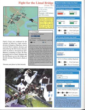 Napoleon issue #1 page with map, OOB, minis