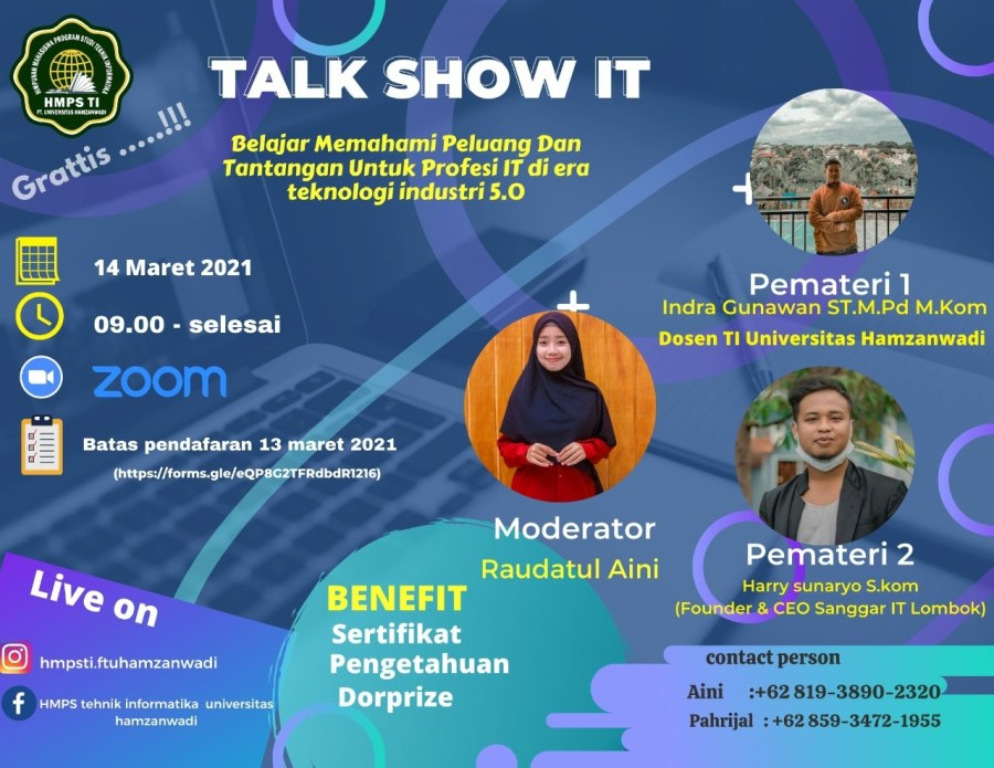 Poster Acara Talk Show IT