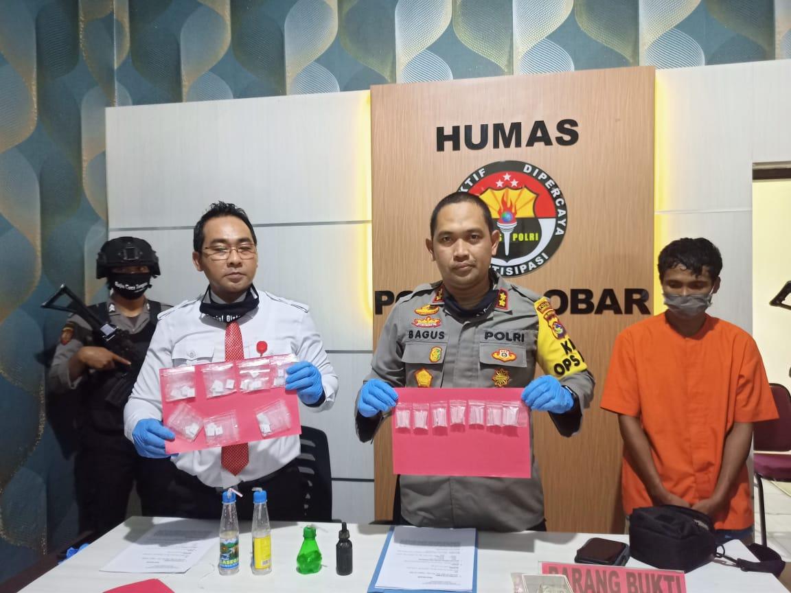 Seorang Pengedar Narkoba di Sekotong Diringkus Polisi