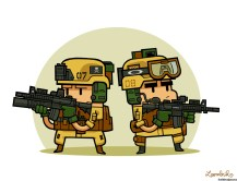soldiers-tier-one-battlefield-warfighter-soldat-seals-team-M4-A1-M203-comtac-marines-coyote-brown-toon-special-forces-dark-earth-eotech-reflex-sight