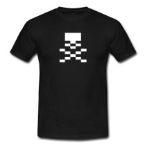 thesuperawesomeshop-the-super-awesome-shop-tee-tshirt-shirt-cool-spreadshirt-spreadshop-store-illustration-art-wide-skull-crossbones-pirate-calyco-jack-pxl-pixel-pixelart-black-white-geek-geeky-wide