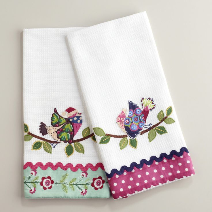 Embroidery Designs Kitchen Towels