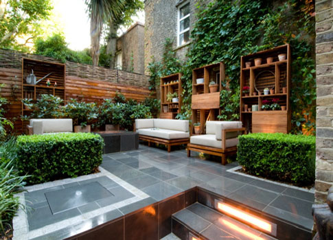 outdoor living room area | http://lomets.com on Small Backyard Living Spaces  id=84954